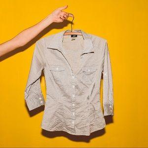 H&M Pinstripe Button Up